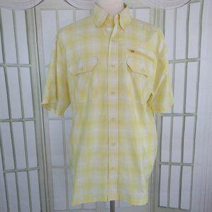 Reel Legends Button Front Shirt Yellow Size XL